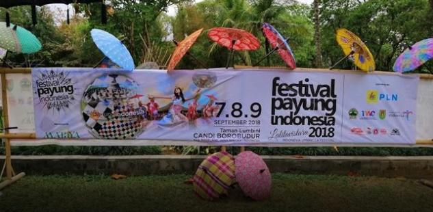 FESTIVAL PAYUNG INDONESIA 2018 DI CANDI BOROBUDUR