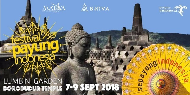 INDAHNYA FESTIVAL PAYUNG INDONESIA 2018 DI CANDI BOROBUDUR